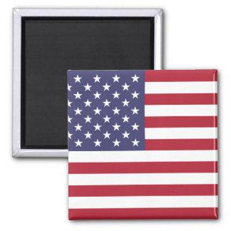"""Nationale Flagge des USA USA Quadratischer Magnet"
