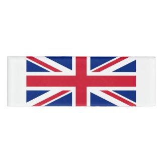 Nationale Flagge des Vereinigten Königreichs Namenschild