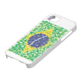 Nationale Fußballflagge Brasiliens (Futebol iPhone 5 Hüllen