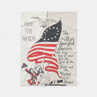 Nationale Hymnen-USA-Flagge Fleecedecke