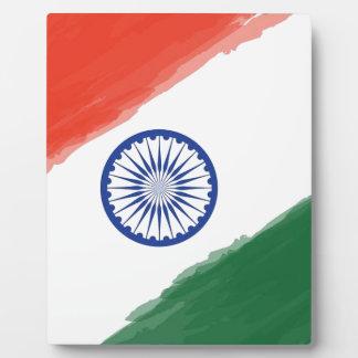 Nationale Land-Nation indische Fotoplatte