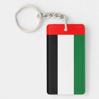 Nationale Weltflagge Arabische Emirates Schlüsselanhänger