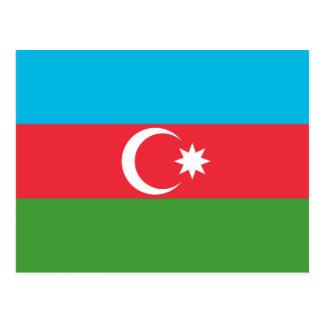 Nationale Weltflagge Aserbaidschans Postkarte