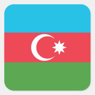 Nationale Weltflagge Aserbaidschans Quadratischer Aufkleber