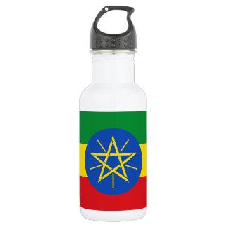 Nationale Weltflagge Äthiopiens Edelstahlflasche