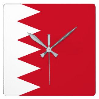 Nationale Weltflagge Bahrains Quadratische Wanduhr