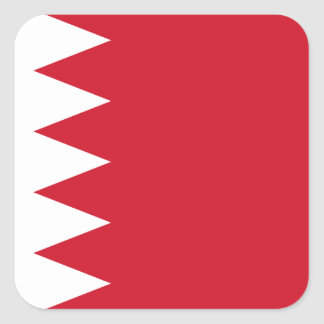 Nationale Weltflagge Bahrains Quadratischer Aufkleber