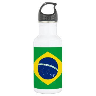 Nationale Weltflagge Brasiliens Edelstahlflasche