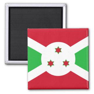Nationale Weltflagge Burundis Quadratischer Magnet