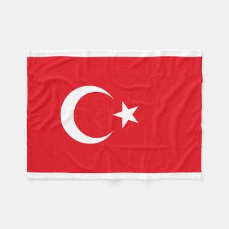 Nationale Weltflagge der Türkei Fleecedecke