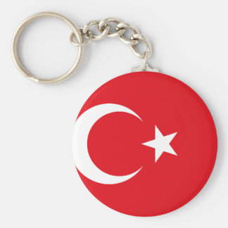 Nationale Weltflagge der Türkei Standard Runder Schlüsselanhänger