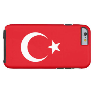 Nationale Weltflagge der Türkei Tough iPhone 6 Hülle