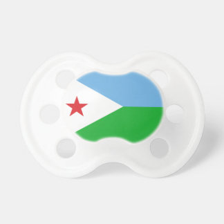 Nationale Weltflagge Dschibutis Schnuller