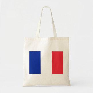 Nationale Weltflagge Frankreichs Budget Stoffbeutel