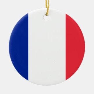 Nationale Weltflagge Frankreichs Rundes Keramik Ornament