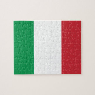 Nationale Weltflagge Italiens Puzzle