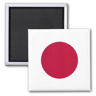 Nationale Weltflagge Japans Quadratischer Magnet