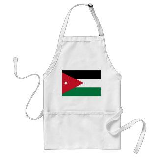Nationale Weltflagge Jordaniens Schürze