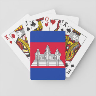 Nationale Weltflagge Kambodschas Spielkarten