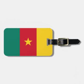 Nationale Weltflagge Kameruns Kofferanhänger
