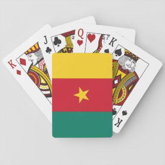 Nationale Weltflagge Kameruns Spielkarten
