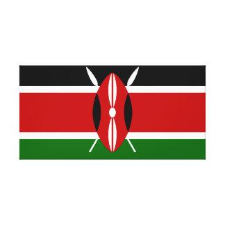 Nationale Weltflagge Kenias Leinwanddruck