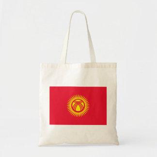 Nationale Weltflagge Kirgisistans Tragetasche