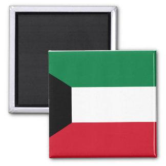 Nationale Weltflagge Kuwaits Quadratischer Magnet