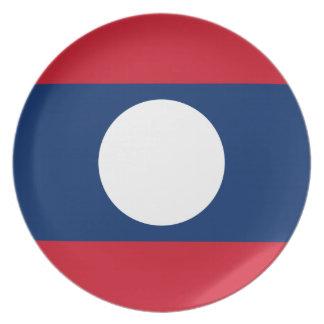 Nationale Weltflagge Laos Teller