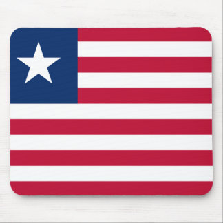 Nationale Weltflagge Liberias Mousepad