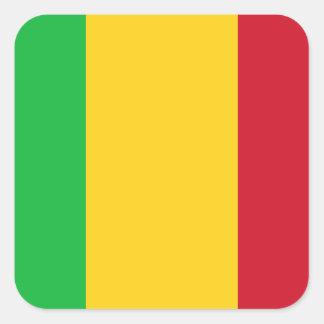 Nationale Weltflagge Malis Quadratischer Aufkleber