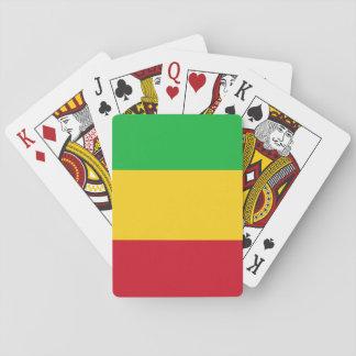 Nationale Weltflagge Malis Spielkarten