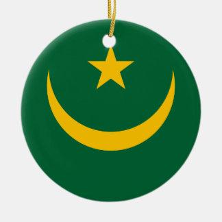 Nationale Weltflagge Mauretaniens Keramik Ornament
