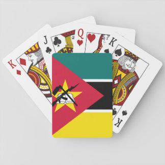 Nationale Weltflagge Mosambiks Spielkarten