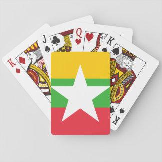Nationale Weltflagge Myanmars Spielkarten
