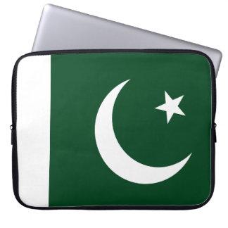 Nationale Weltflagge Pakistans Laptop Sleeve