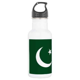 Nationale Weltflagge Pakistans Trinkflasche