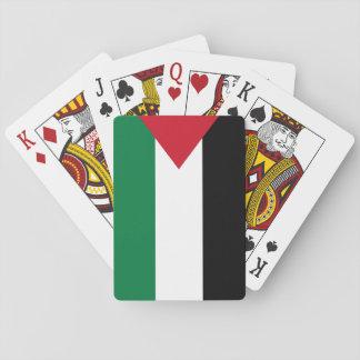 Nationale Weltflagge Palästinas Spielkarten