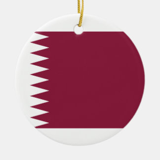 Nationale Weltflagge Qatars Keramik Ornament