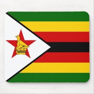 Nationale Weltflagge Simbabwes Mousepads