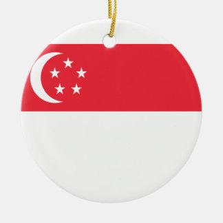 Nationale Weltflagge Singapurs Keramik Ornament