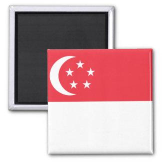 Nationale Weltflagge Singapurs Quadratischer Magnet