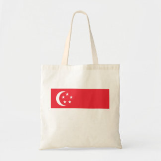 Nationale Weltflagge Singapurs Tragetasche