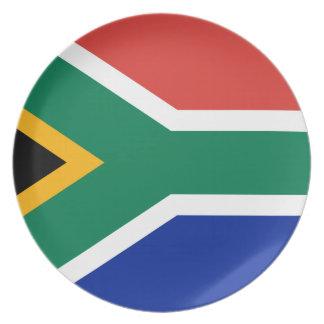 Nationale Weltflagge Südafrikas Melaminteller