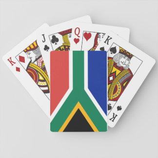 Nationale Weltflagge Südafrikas Spielkarten