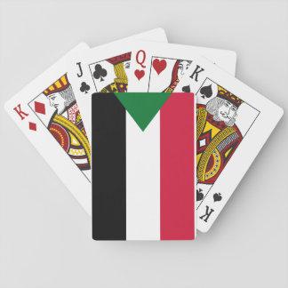 Nationale Weltflagge Sudans Spielkarten