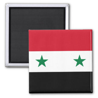 Nationale Weltflagge Syriens Quadratischer Magnet