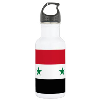 Nationale Weltflagge Syriens Trinkflasche