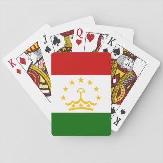 Nationale Weltflagge Tadschikistans Spielkarten