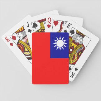 Nationale Weltflagge Taiwans Spielkarten